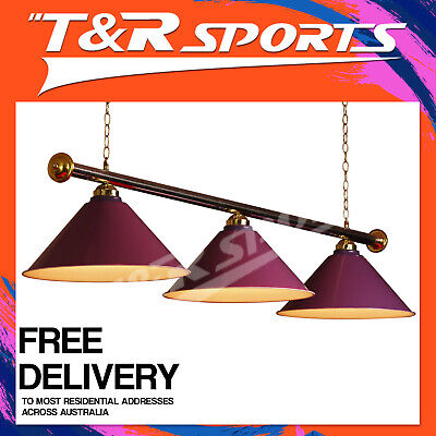 Purple Metal Pool Snooker Table Light Free Au Delivery
