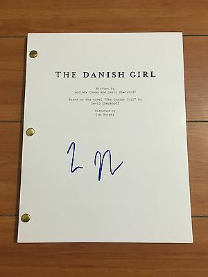 TOM HOOPER SIGNED THE DANISH GIRL FULL MOVIE SCRIPT -IN PERSON AUTOGRAPH w/PROOF