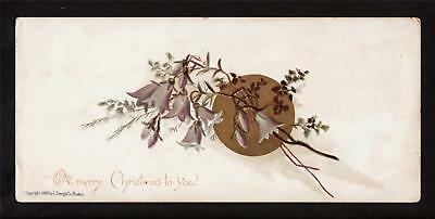 1888 prang flower victorian christmas card bookmark