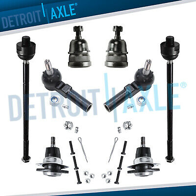 Detroit Axle Replacement for 1993-2002 Chevrolet Camaro Pontiac Firebird Front Lower Upper Ball Joints Inner Outer Tie Rods Sway Bars 12pc Set