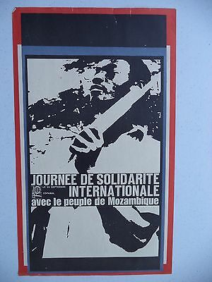OSPAAAL Political Poster Mozambique Africa Solidarity Struggle 1966 Original ART