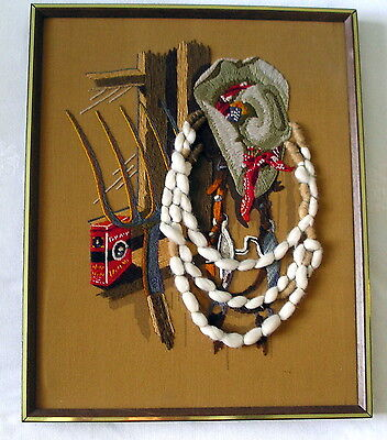Crewel Embroidery WESTERN LIFE Dan Trotter Sunset Stitchery completed Cowboy
