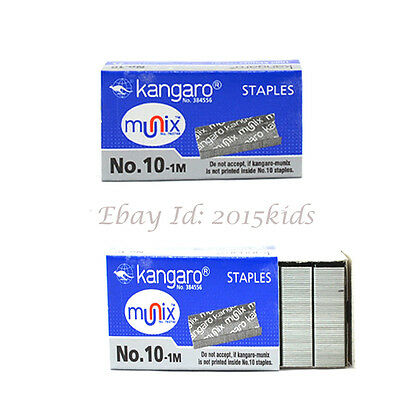 10 X1000 Pins Of Kangaro Staples No. 10, 1M Pins Good Quality Metal - USA seller