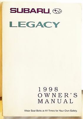 98 1998 subaru legacy owners manual 6 25 picclick rh picclick com 1998 subaru legacy owner's manual 1998 subaru legacy gt owners manual