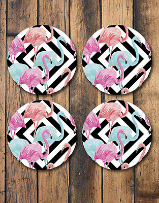 Pink and Blue Flamingo Coasters, Set Of 4 - great gift idea