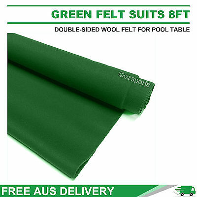 English Hainsworth Green Pool Table Cloth Felt Kit For 8Ft Free Delivery