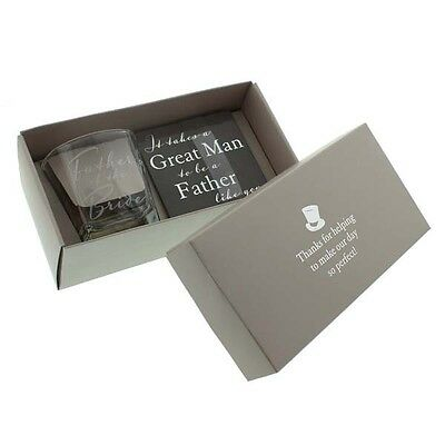 Whisky Glass and Coaster - Wedding Gifts for Fathers, Best Men and Ushers