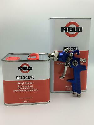Clearcoat Lacquer Kit with Pro Spraygun  Scratch Resistant 7.5Litre RELO MS