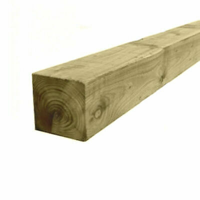 "4"" x 4"" (100mm) Pressure Treated Timber Wooden Gate Fence Post 1.8m / 2.4m"