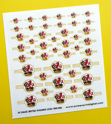 BRITISH RAILWAYS LOGO High Detail stickers decals Model Railway HO OO Gauge