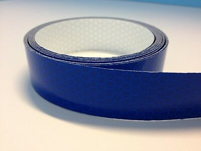 """High Intensity Blue Reflective Tape 1"""" wide  x 10 ft long"""