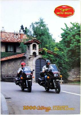 MOTO-GUZZI 1000 California III- Motorcycle Sales Brochure - 1990 - Ital
