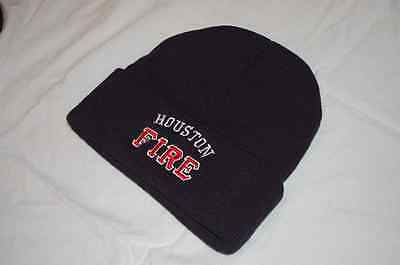 Houston Fire Deptartment  Winter Hat with Flap Red/White Free Shipping!!!