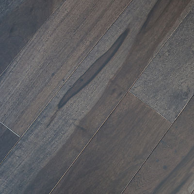 "4"" Solid Macchiato Pecan Graphite Wood Floor Hardwood Flooring Sample"