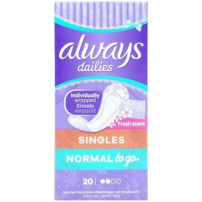 Always Dailies Pantyliners 20 Normal/Scented 20 Pantyliners
