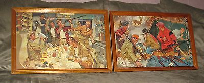 Very Rare & Vintage Winchester Illustration Lithograph Lot of 2  FREE SHIPPING