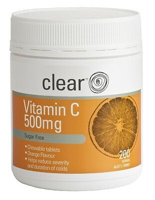 Clear Health Vitamin C 500mg - Reduce the symptoms of cold and flu