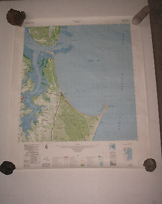 1978 Wide Bay Survey Map - Vintage 70s Rainbow Bay Cooloola Topographic Poster