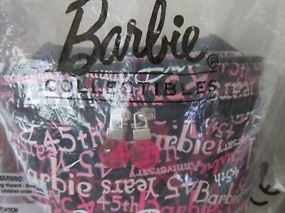 45th ANNIVERSARY BARBIE COSMETIC CARRY-ALL BAG SEALED IN CLEAR PLASTIC MINT RARE