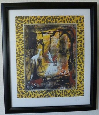 David Bowie Hand Signed Limited Edition 1999 Lithograph Zenzi