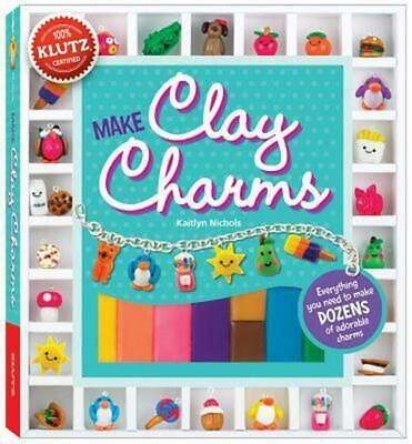 Make Clay Charms [With Clay Shaping Tool, Glaze, Charm Loops, Jump Rings and Cha