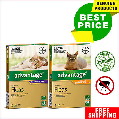 ADVANTAGE Flea Treatment for Cats All Sizes 6 Pipettes + 2 Pipettes FREE