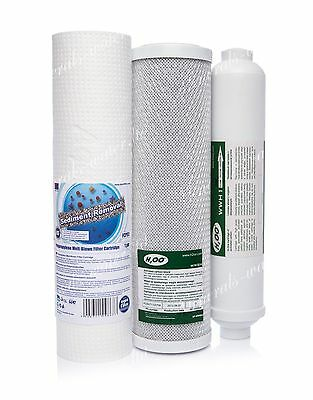 Set Of 1 Micron Sediment•carbon•inline•filter•reverse Osmosis System•replacement