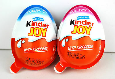 Kinder Joy    Chocolate   For Girls/Boys   20GM  Choose from 1/6/12/24/48 packs