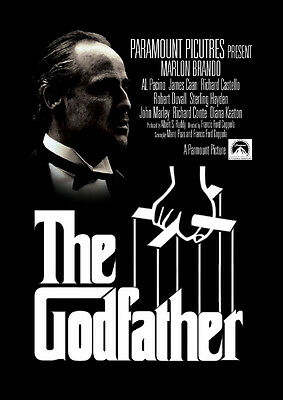 The Godfather Vintage Classic Movie Giant Poster Art Print  A0 A1 A2 A3 A4