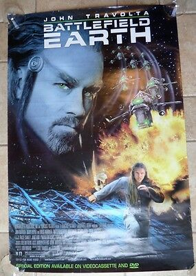 Movie Poster  Battlefield Earth John Travolta 27X40 Used