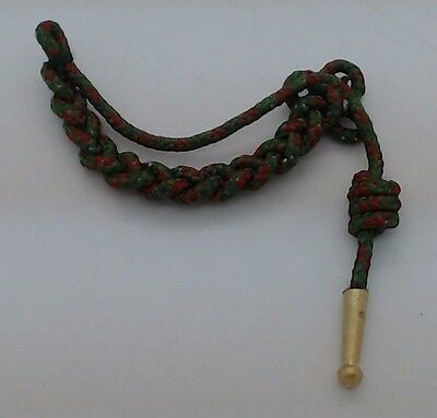 Wwi French Croix De Guerre Medal Miniature Fourragere Lanyard Green