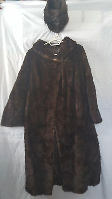 Vintage Kreuger Furs Mink Paw Coat and Hat - Lacrosse, Wisconsin