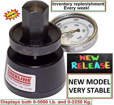 Sherline Hydraulic Scale LM5000 Trailer Tongue Weight scales NEW