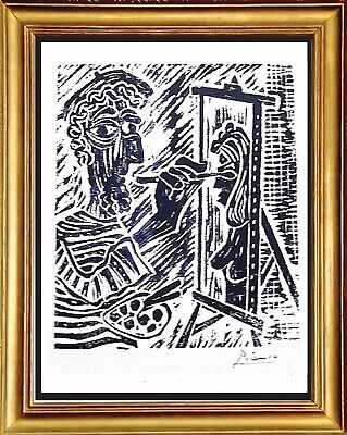 """Pablo Picasso Original Limited Edition Print """"The Artist"""" Hand Signed with COA"""