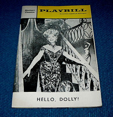 Betty Grable : PLAYBILL MAGAZINE for HELLO DOLLY : Oct. 1966 @ Shubert Theatre