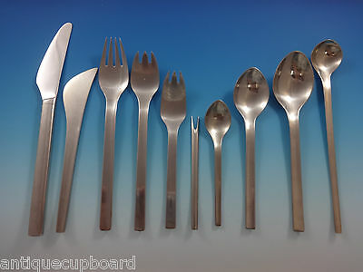 Tanaquil By Georg Jensen Stainless Steel Flatware Set For 12 Service Modernism