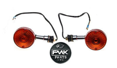 NEW Front Indicators Chrome Left Right Indicator PAIR for Suzuki GN125