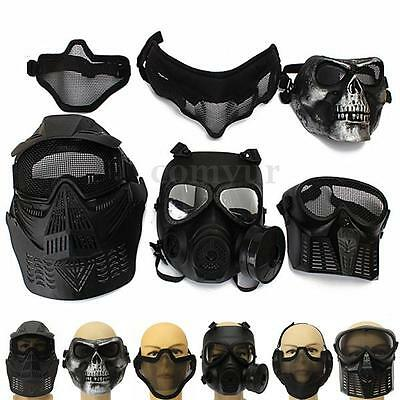 Biker Tactical Face Protection Safety Gear Mask Guard for Paintball Airsoft Game