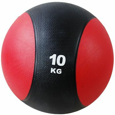 BodyRip RUBBER MEDICINE BALL 10KG WEIGHTS EXERCISE FITNESS MMA BOXING GYM FIT
