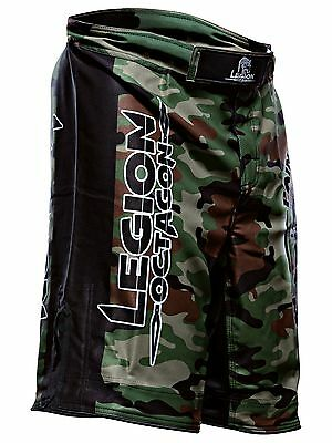 Legion Octagon Hose Pain Camouflage S M L XL MMA Grappling BJJ Shorts Badeshort