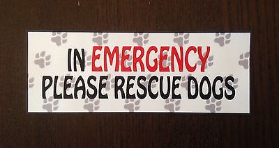 Emergency Rescue Dogs Vehicle Sticker Sled Dog  Husky Terrier Spaniel Collie Pug