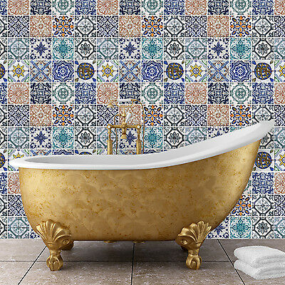 Family Decoration Spanish Tiles Mosaic Décor Wall Stickers Home 120cm x 120cm
