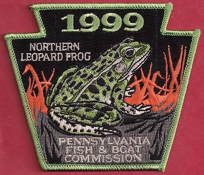 Pa Pennsylvania Fish Commission 1999 Northern Leopard Frog Non-Game Series Patch