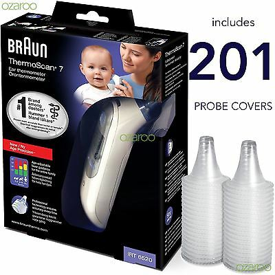 Braun ThermoScan 7 6520 Baby Professional Digital Ear Thermometer 201 Lens Cover