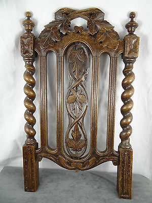 Antique French Carved Wood Gothic Panel 19th -  Part Salvaged Pieces