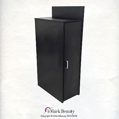 Beauty Salon Black Floor Cabinet WITH STORAGE for Shampoo Salon Spa Quality BC42