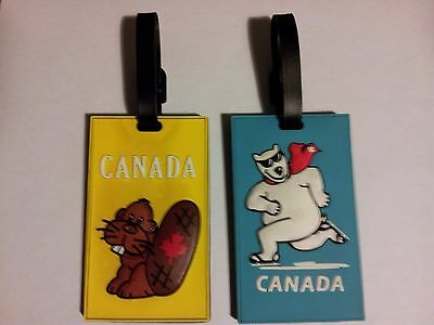 Canada ICE SKATING POLAR BEAR Luggage Tag(complimentary Beaver Luggage tag incl)