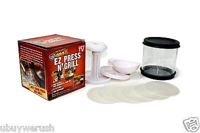 $16 EZ Press N Grill BP-1 Perfect Burger Patty Maker Container NEW As Seen On TV