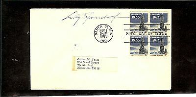 Us Autographed First Day Cover Scott# 1240, Christmas 1 Signature