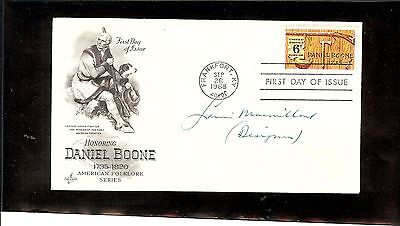 Us Autographed First Day Cover Scot#1357,daniel Boone 1 Signature
